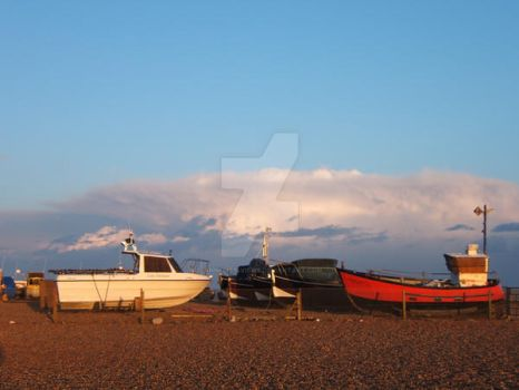 Fishing boats on Beach by Annelisa-Views