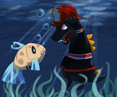 PKMNation: In the Lake by Jackalune