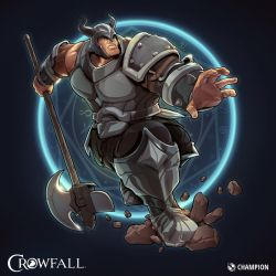 Crowfall Champion Poster by PerfectDork