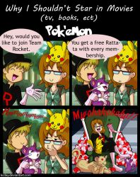 Why I Shouldn't Star in Movies: Pokemon by kcday