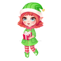 Christmas elf chibi by Ksanya