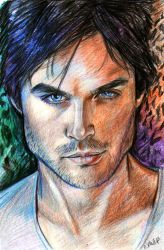 The Vampire Diaires Trio: Damon by Liltio