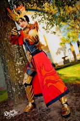Diablo 3 Wizard cosplay - Firebird's Finery set by eitanya