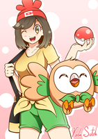 Pokemon Sun/Moon - Rowlet by Banzatou