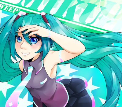 Miku anniversary by Weepinbelly