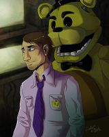Mike and Golden Freddy by LadyFiszi