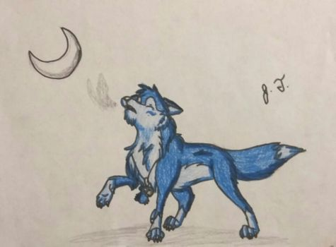 I am a Wolf, You are the Moon by joshbluemacaw