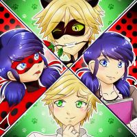 Ladybug Love Square by a745