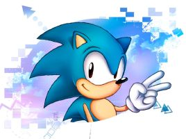 Blue Hedgehog by Nerkin