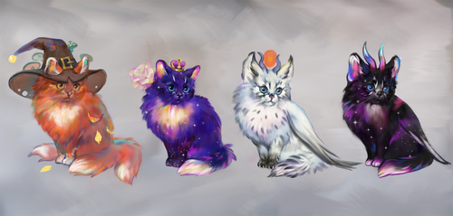 Wizard cats adopt AUCTION[CLOSED] by opi-um