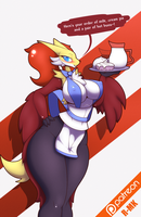 ~Delphox Waitress~ by R-MK