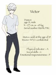 DAMON charactes's info - Victor by PiperOfGameln