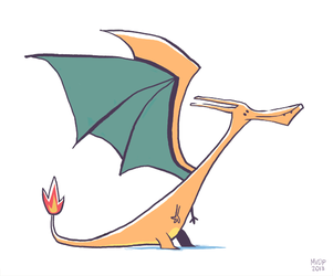 Charizard Doodle by sketchinthoughts