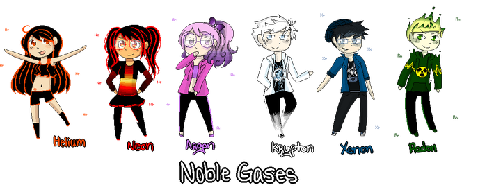 The Atomix - Noble Gases Pixel by Starrkeeper