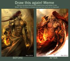 Draw this again: Fire Enchanter by engkit