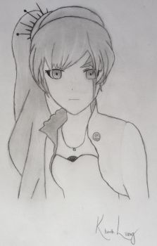 Weiss Schnee Drawing by ChocolateBar123