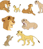 lion bases by whitetigerdelight