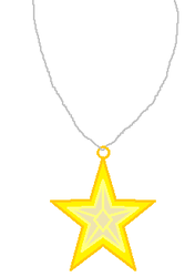 Yellow Jewel Star Necklace by Starlig