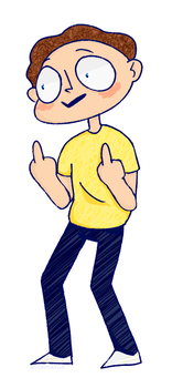 Morty flipping off by pastapooper