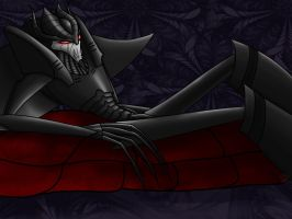 TF: Reclining Warlock by ZeeNovos