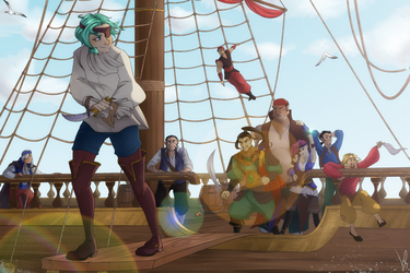 Walking the plank by angryraccoondraw