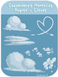 BP: Cocobunnie's Monthly Pack: August - Clouds by cocobunnie