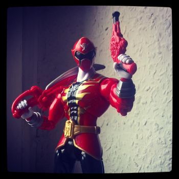 Red Ranger SuperMegaforce Armored Ranger by fumpenfoto