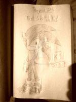 SA2 Sonic Project 25 Sketch 1 by KuraiJinx