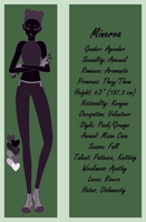 Minerva Character Sheet by AsterianMonarch