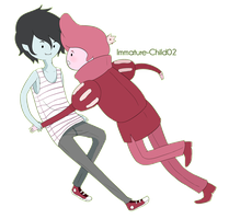 Gumball and Marshall Lee by Immature-Child02