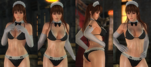 Kasumi Maid Swimsuit 002 (18 Pics) by DOA5lrScreenShots