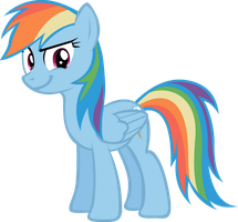 Rainbow Dash Smirking by LilCinnamon