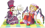 Peacock and Flandre Tea Party by Quanyails