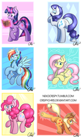 New Mane 6 prints~ by NekoCrispy