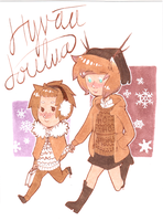 Christmasy cuties by Nygelsbagelsbear