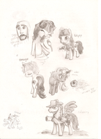 Fallout : Equestria Characters by 7908yjw