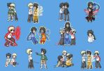 HS LC - chibis by ChibiEdo