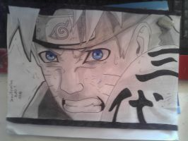 -Naruto- Pencil Shading and Blue Eyes! by Drawification