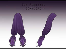 Low Ponytail [ DOWNLOAD ] by PeachMilk3D
