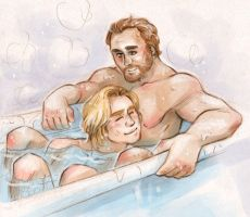 In the tub [Jorah Mormont Jaime Lannister] by ProfDrLachfinger