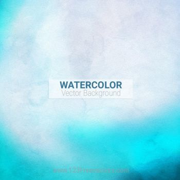 Watercolor Blue Background Free Vector by 123freevectors