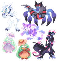 Cleaned Poke'hybrid OC Commissions - batch 8