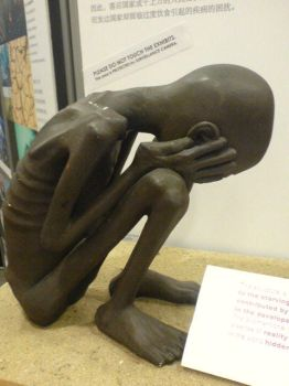 Sculpture of an african child by borncrazy