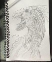 (Finished Sketch) Indoraptor  by oconnorniamh99