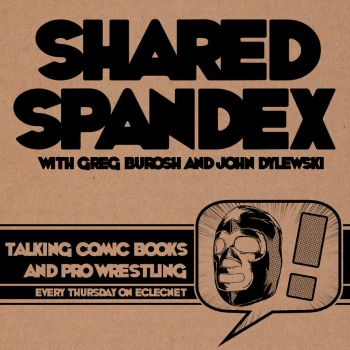 Shared Spandex podcast logo by John-Dylewski