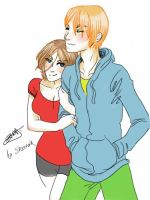 Claire and Steve Fluffy by CosmicVirus