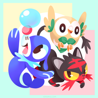 PKMN - Sun/Moon Starters by Versiris
