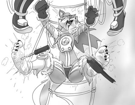 Red Savarin Tickled by PawFeather