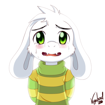 Crying Asriel by VagabondWolves