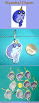 Narwhal Charm by VickyViolet